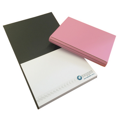 Bonded Leather Combination Unprinted Cover, 100x75mm 1 Col Pad (BLEATHERCPW4C1P_OXY)