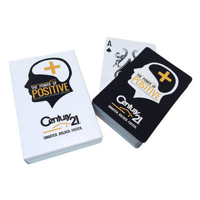 57x88mm Playing Cards - 1 Colour Print - Packed In Custom Printed Carton (PCPRINTEDBOX1C_OXY)