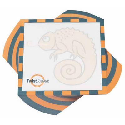 100x100mm Twist Note - 1 COL Print - 150 L (Half Twist) (BIGTWIST150L1C_OXY)