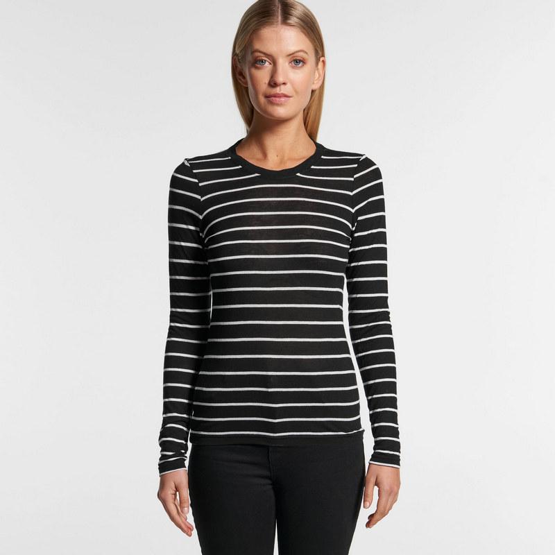Fine Stripe Long Sleeve Tee (4027_AS)