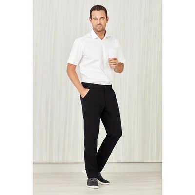 Mens Comfort Waist Flat Front Pant (CL958ML_CARE)
