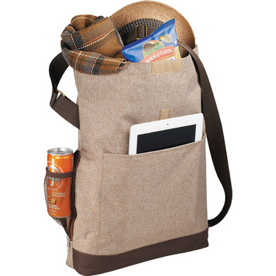 Chambray Foldover 11 Tablet Tote (2301-14_BUL)