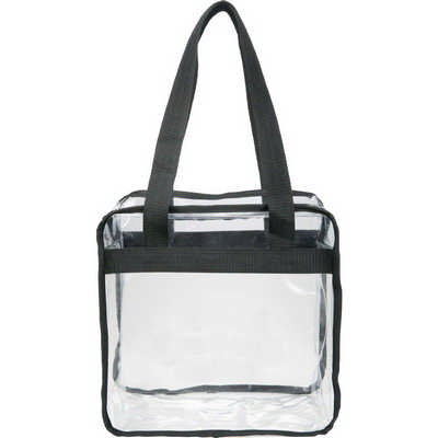 Game Day Clear Zippered Safety Tote (2301-42_BUL)
