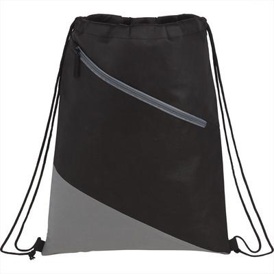 Slanted  Non-Woven Drawstring Bag (3005-25_BUL)