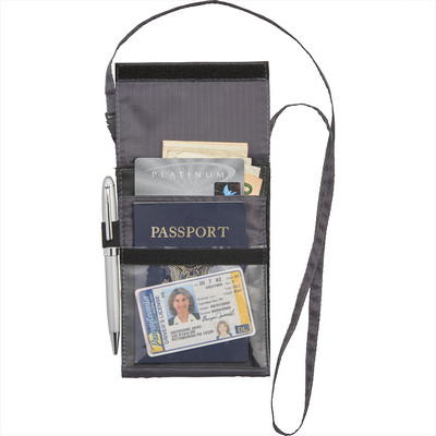 BRIGHTtravels RFID Passport Wallet with Lanyard (7007-16_BUL)
