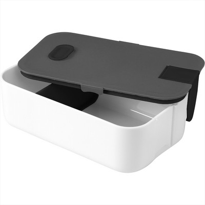 2 Compartment Bento Box with Phone Stand (SM-2205_BUL)