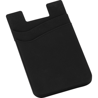 Dual Pocket Slim Silicone Phone Wallet (SM-2562_BUL)