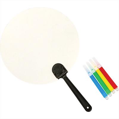 Colouring Paper Fan Set (SM-3084_BUL)