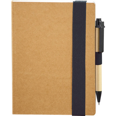 The Eco Perfect Bound Notebook with Pen (SM-3448_BUL)