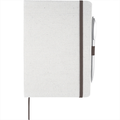 5.5inch x 8.5inch Luna Canvas Notebook (SM-3481_BUL)