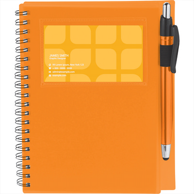 The Star Spiral Notebook with Pen-Stylus (SM-3497_BUL)