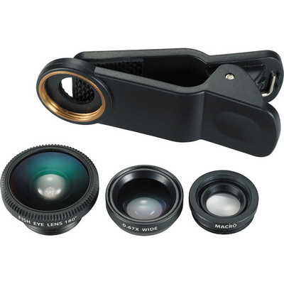 3-in-1 Clip-on Phone Lens Set (SM-3655_BUL)