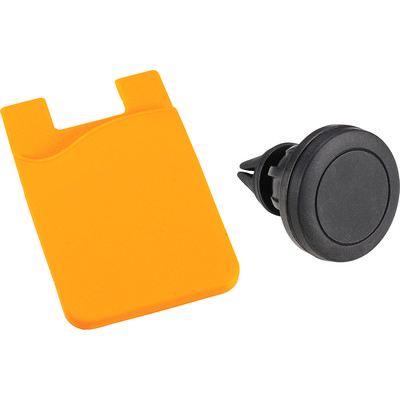 Magnetic Phone Mount w Silicone Wallet (SM-3734_BUL)