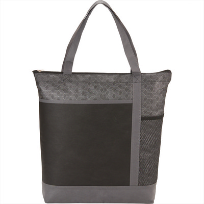 Chrome Non-Woven Zipper Convention Tote (SM-5750_BUL)