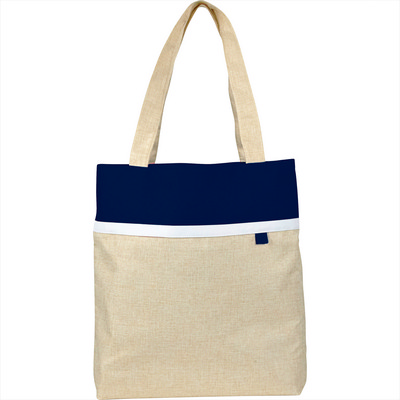 Deluxe Lined Linen Tote (SM-5826_BUL)