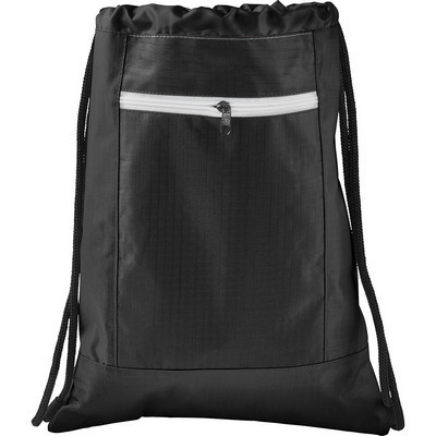 Zippered Ripstop Drawstring Sportspack (SM-7047_BUL)