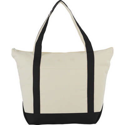 12 oz. Zippered Cotton Canvas Tote (SM-7214_BUL)