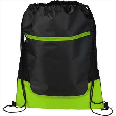 Libra Front Zipper Drawstring Sportspack (SM-7383_BUL)