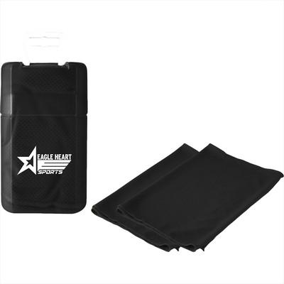 Cooling Towel in Plastic Case (SM-7662_BUL)