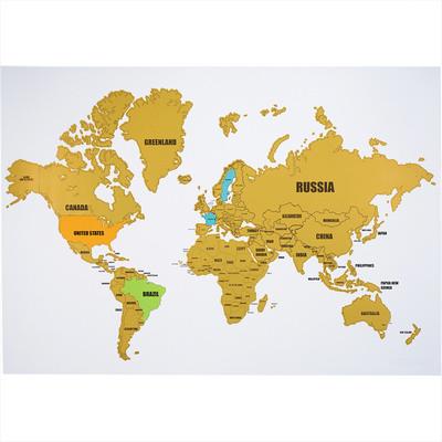 Wanderlust World Scratch Map (SM-7696_BUL)