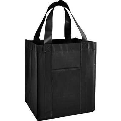 Laminated Non-Woven Grocery Tote (SM-7713_BUL)
