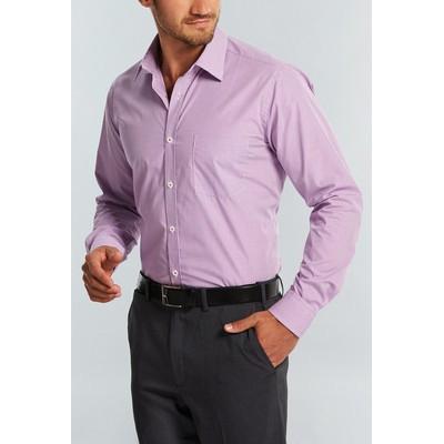 Gloweave Mens Micro Gingham Wrinkle Free Business Shirt (1637L_GLO)