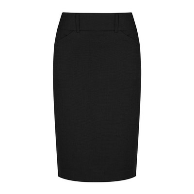 Womens Black Elliot Womens Washable Pencil Skirt - Black (1724WSK-Bla_GLO)