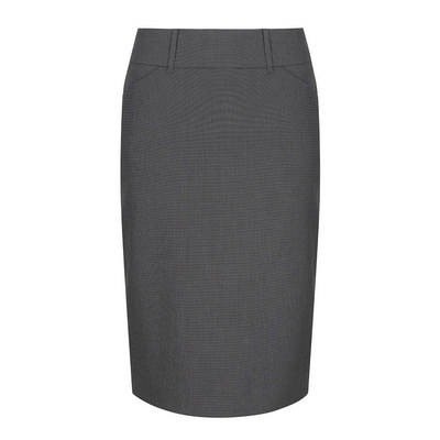 Womens Charcoal Elliot Womens Washable Pencil Skirt - Charcoal (1724WSK-Cha_GLO)