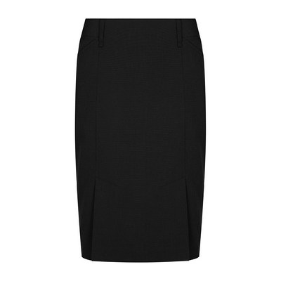 Womens Black Elliot Womens Washable Box Pleat Skirt - Black (1766WSK-Bla_GLO)