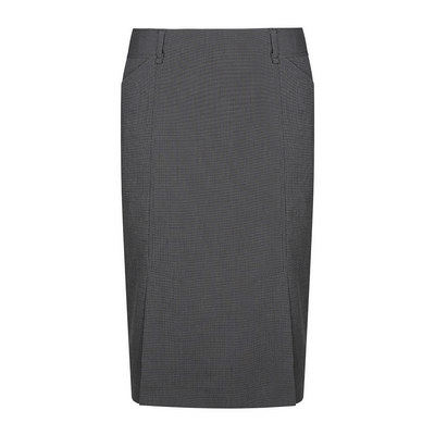 Womens Charcoal Elliot Womens Washable Box Pleat Skirt - Charcoal (1766WSK-Cha_GLO)