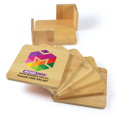 Tropic Bamboo Coasters Set of 6 (LL3516_LLPRINT)