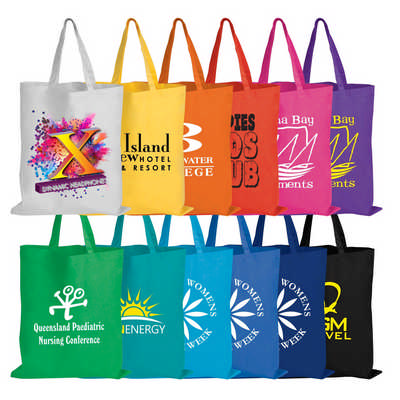 Coloured Cotton Short Handle Tote Bag (LL509_LLPRINT)