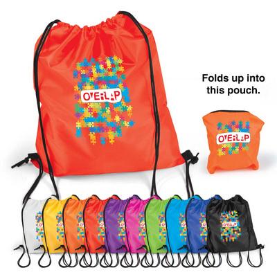 Pronto Drawstring Backpack (LL523_LLPRINT)