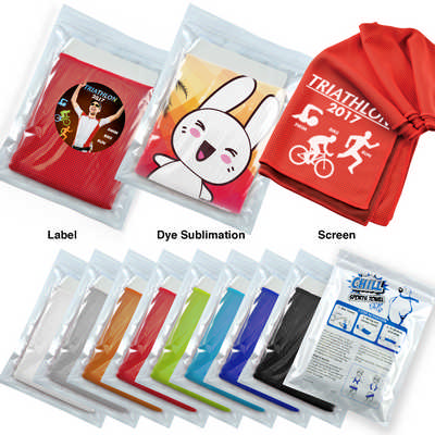 Chill Cooling Towel in Pouch (LL8370_LLPRINT)