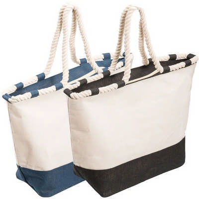 Zippered Laminated Canvas Tote Bag (5047_RNG_DEC)