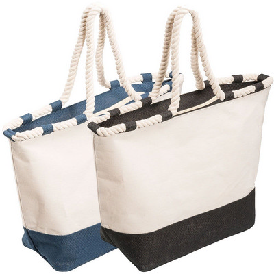 Zippered Laminated Canvas Tote Bag (5047BK_RNG_DEC)