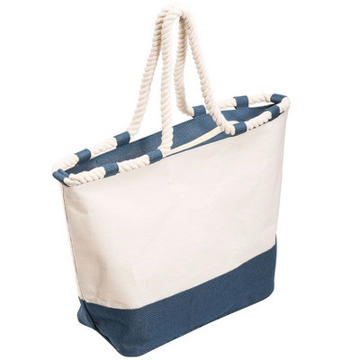 Zippered Laminated Canvas Tote Bag (5047BL_RNG_DEC)