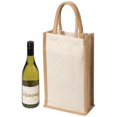 Two Bottle Canvas Wine Carrier (5048NA_RNG_DEC)