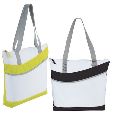 Upswing Zippered Convention Tote (5065BK_RNG_DEC)