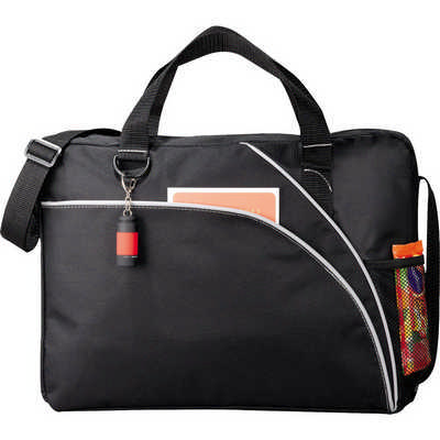 Double Curve Conference Bag (5154BK_RNG_DEC)