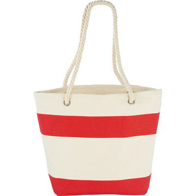 Capri Stripes Cotton Tote (5158RD_RNG_DEC)