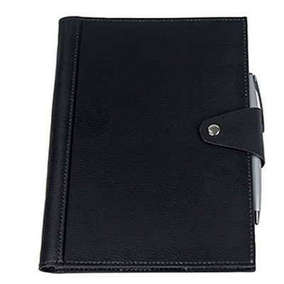 Brigadier A5 Refill Leather Journal Padfolio - Black (9148BK_RNG_DEC)