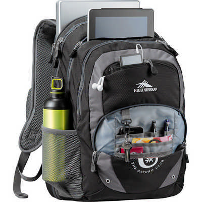 High Sierra Overtime Fly-By 17 inch Computer Backpack - Black (HS1004BK_RNG_DEC)