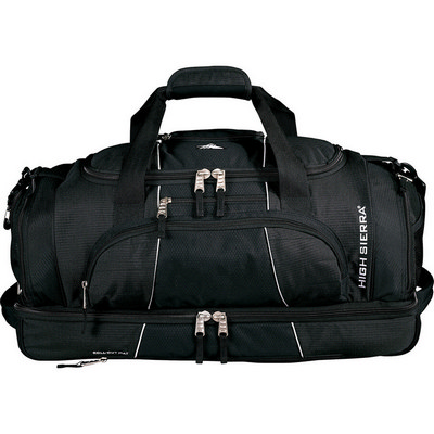 High Sierra Colossus 26 inch Drop Bottom Duffel Bag (HS1005BK_RNG_DEC)