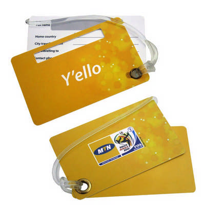 Hard Plastic Double Luggage Tag (PLAS-201_RNG_DEC)