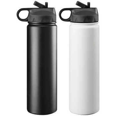 Trekk Double Walled Stainless Drink Bottle (TK1018WH_RNG_DEC)