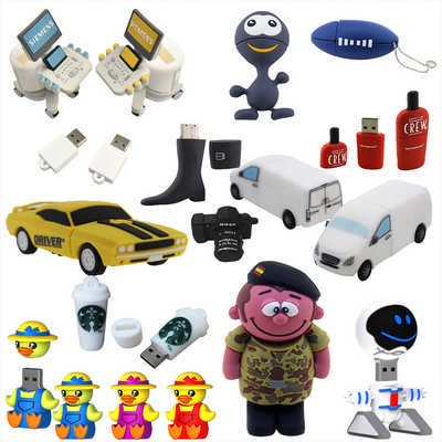 3D Custom Shape USB Flash Drive (USB3DPVC_RNG_DEC)