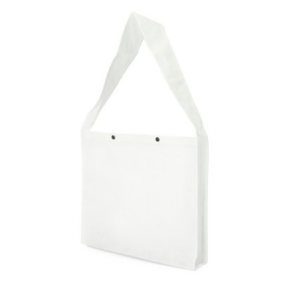 Non Woven Sling Bag - wpress studs and gusset (NWB20-WH_GLOBAL)