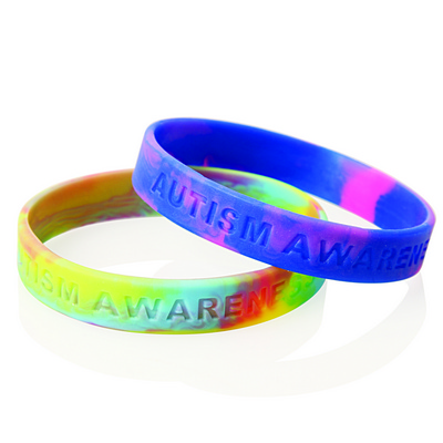 Multi Coloured Debossed Silicone Wristband (WB03_GLOBAL)