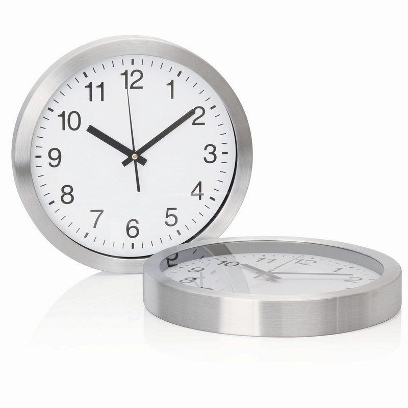 Wall Clock 30cm Aluminium (C308_GL_DEC)